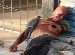 Victim thought to have been skinned alive prior to their heart being removed. Nayarit, Mexico. Cartel Social Media—April 2011